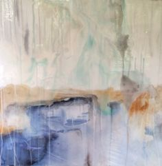 Abstract on Gesso board with resin finish - SOLD