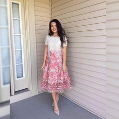 Strawberry Hill Skirt #Anthropologie #MyAnthroPhoto