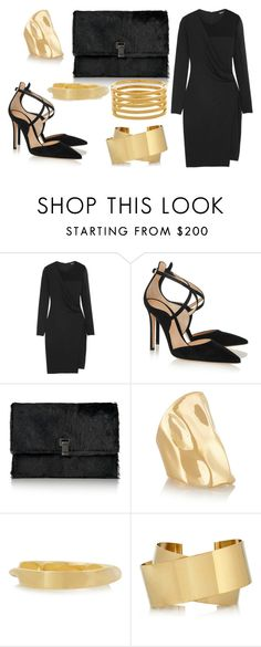 """Sans titre #1022"" by carla-afonso on Polyvore featuring mode, DKNY, Gianvito Rossi, Proenza Schouler, Jennifer Fisher, Chloé, Isabel Marant et Kenneth Jay Lane"