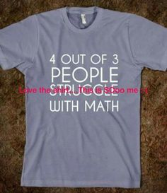 Math challenged