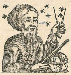 """Ecco la prima immagine di Barbanera! L'Astronomo degli Appennini compare per la prima volta sul #Lunario del 1774. È un uomo serio, dall'inevitabile barba nera, che punta tra le stelle il suo compasso """"per poter altrui predire tutto quel che ha da venire"""". E quel compasso non serve soltanto a prevedere il futuro, ma diventa il simbolo stesso del #calendario, creato a partire dall'osservazione e dalla misurazione del percorso ciclico annuale del sole e della luna."""