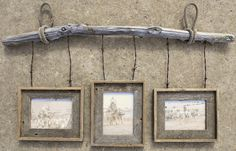 """Barnwood and Barbwire Hanging frame built by Nicole Viste. $140 for 5""""x 7"""" frames.  $200 for 8""""x 10"""" frames."""