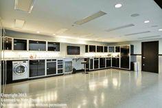 Garage condo in MN that features these Moduline cabinets downstairs. Garage cabinets. Dream garage. Mancave