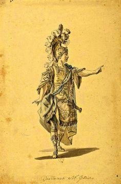 Louis-René Boquet - Costume Design for the Opera 'Dardanus' pour Monsieur Jélyotte - 1763
