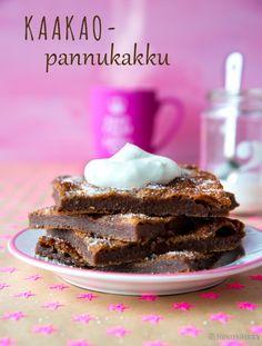 Kaakaopannukakku #liivatteeton #pähkinätön Finnish Recipes, Sweet Pastries, Joko, Slow Food, Something Sweet, Desert Recipes, No Bake Desserts, Let Them Eat Cake, Baking Recipes