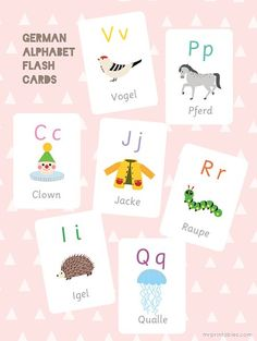 German Alphabet Flash Cards