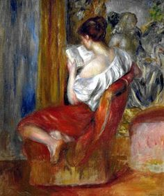 La Liseuse - Reading Woman Pierre-Auguste Renoir (Impressionist, Oil on canvas. Renoir enjoyed depicting his friends and lovers with expressive. Pierre Auguste Renoir, Edouard Manet, Reading Art, Woman Reading, Reading Nook, August Renoir, Renoir Paintings, Oil Paintings, Art History
