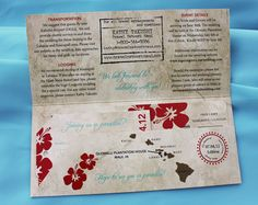 [Vintage airline ticket invite] print on linen or resume paper. RSVP is luggage tag
