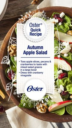 This salad is full of Autumn goodness! Place this on your Thanksgiving table and watch everyone smile :) [Promotional Pin]