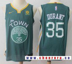 1d21738a9 Men s Golden State Warriors  35 Kevin Durant Dark Green 2017-2018 Nike  Swingman Rakuten Stitched NBA Jersey