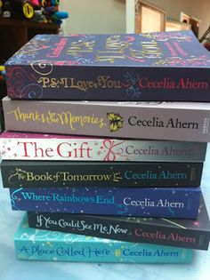 Sarah J. Coleman's designs for Cecelia Ahern's books.
