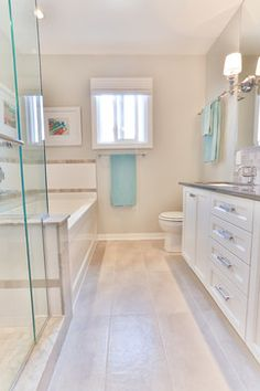 Long And Narrow Bathroom Design Ideas, Pictures, Remodel, and Decor - page 2