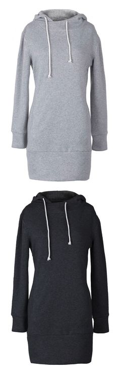 Have this long sweatshirt with Only $21.99, One week delivery&easy return! This slim hoodie is detailed with drawstring&raglan sleeve.Opt for this style at Cupshe.com !