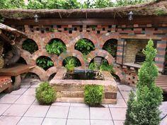 gartenmauer-feldnsteine-alte-ziegel (4) | gartengestaltung, Garten seite