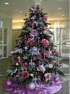 Purple and pink Christmas tree- playing with color for the holidays.
