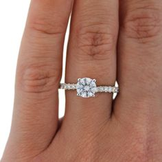small but cute solitaire diamond engagement rings in white gold from a.Jaffe
