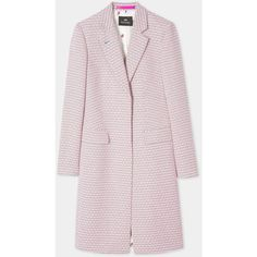 PS Paul Smith Women's Pink Jacquard Cotton-Blend Epsom Coat (16 845 UAH) ❤ liked on Polyvore featuring outerwear, coats, ps paul smith, pink coats, texture coat and jacquard coat
