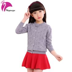 Cool Girls Sweaters Long Sleeve O-neck Knitted Sweaters For Girls Children Clothing Autumn Winter Outerwear Teenagers Knitwear - $ - Buy it Now!