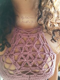 Crochet flower of life top/Crochet by MayaLunaCorazon on Etsy