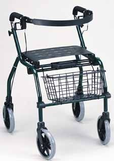 """Deluxe Walker Rollator - Drak Green. This Aluminum frame walker rollator with back support has 8"""" wheels, Locking hand brakesSimple folding system for storage and transporting Weight capacity: 300 lbs. by King Of Canes. $419.99. Aluminum frame  Extra wide seat  8"""" wheels  Reverse handles  Back rest  Removable front basket  Locking hand brakes  Simple folding system for storage and transporting  Limited lifetime warranty on the frame  Weight capacity: 300 lbs. Save 17% Off!"""