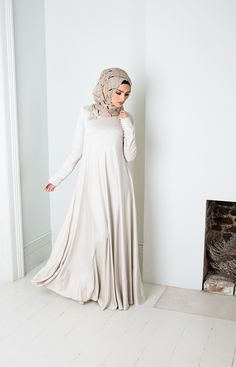 Aab UK Crochet Couture Abaya : Crochet Couture Abaya Ivory Aab Hijab Fashion Summer, Street Hijab Fashion, Abaya Fashion, Modest Fashion, Fashion Dresses, Abaya Style, Hijab Chic, Islamic Fashion, Muslim Fashion