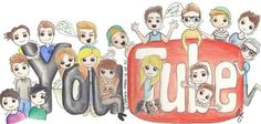 Youtuber drawing