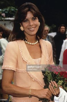 Princess Caroline of Monaco, a member of the Grimaldi family, attends an event in 1983 in Paris, France. Princess Caroline married Ernst August V, Prince of Hanover in 1999 and is also titled as Caroline, Princess of Hanover. She will be celebrating her 50th birthday on January 23rd.