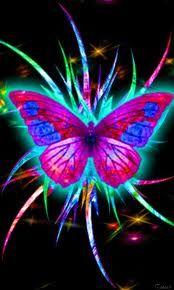 a glowing butterfly