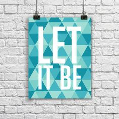 Poster Let it Be Geometric - Hey You - A4 - R$ 25