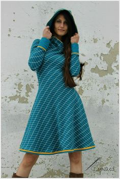 Missy nähen, Kleid nähen, Kapuze, Melians kreatives Stoffchaos, Jacquard, Lillestoff. Tellerrock, Biostoff