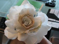 Coffee filter ros. Good tutorial and I like the use if newspaper and other little bits.