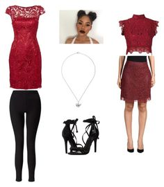 """""""Muffet undertale outfit"""" by thewil on Polyvore featuring Martha Medeiros, Carven, Adrianna Papell, Miss Selfridge, Schutz and Zara Taylor"""