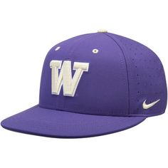 promo code 54b95 3f842 Men s Nike Purple Washington Huskies Baseball True Performance Fitted Hat