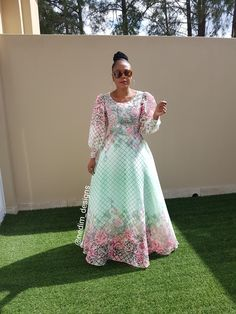 Spring Collection @nedim_designs African Print Dresses, African Print Fashion, African Fashion Dresses, African Dress, African Wedding Attire, African Attire, African Wear, Xhosa Attire, Turquoise Clothes