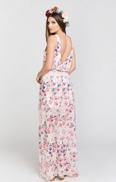 Kendall Maxi Dress Wedding Shoes Floral