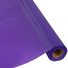 Save on our vibrant and affordable purple 100 plastic table roll and decorate party tables.
