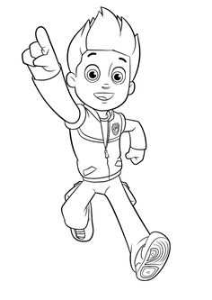 Paw Patrol Ryder Coloring Page From PAW Category Select 30225 Printable Crafts Of Cartoons Nature Animals Bible And Many More