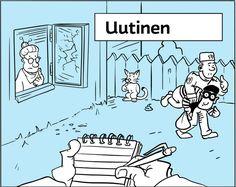 Yle Uutisluokka Writing, Comics, Learning, Art, Art Background, Studying, Kunst, Teaching, Cartoons