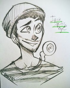 "therealjacksepticeye: "" ana280: "" I drew therealjacksepticeye for a change c: "" I love it :) """
