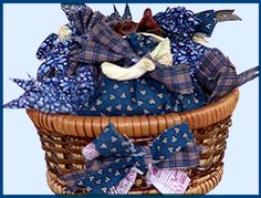 How To Make Little Sachet Baskets For Home Decorations - Free How-To by Linda Walsh
