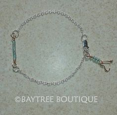 Copper and silver sea green beaded bracelet by BaytreeBoutique, £14.00