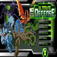 Play Ben 10 Ultimate Defense Game