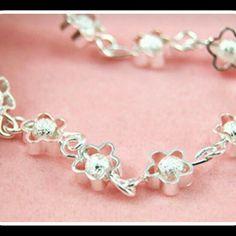 "NIB STERLING SILVER FRIENDSHIP BRACELET Women's new friendship bracelet.. Sterling silver and measures at 8"" in length but is resizable Jewelry Bracelets"
