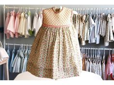 Different...never saw a solid smocked yoke sewn to a printed dress skirt..very cute idea db9039a750944aa4dd161b647ebe6e06.jpg 1,024×768 pixels