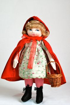 Little red riding hood 11 inches cloth doll by ParisJavaDolls