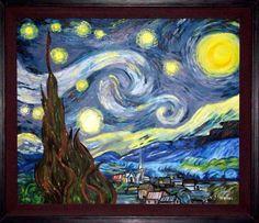 Starry Night by Vincent Von Gogh, handpainted replica