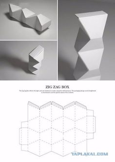 Zig Zag Box FREE Resource For Structural Packaging Design Dielines
