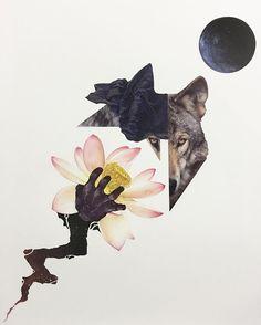 'Conception' paper collage from @ora_et_labora #art #papercraft #paperart #collage #collageart #collageartist #wolf #flower #lotus #surreal #surrealart #artistofinstagram #instaart #artsanity #artstagram #artoftheday #artofinstagram #cutandpaste #cutandpastecollage #unknown #embracetheunknown #theunknownemporium