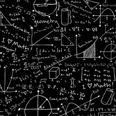 Pages of Equations (Dark) fabric by robyriker on Spoonflower - custom fabric