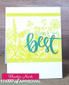 Card by Heather North of  Creative Blessings: SOA Naturally Inspired Blog Hop